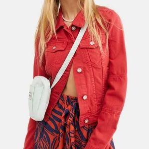 Vintage Karl Lagerfeld Red Denim Jacket